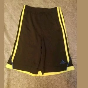 Boy's Black Adidas Athletic Shorts Size 7X